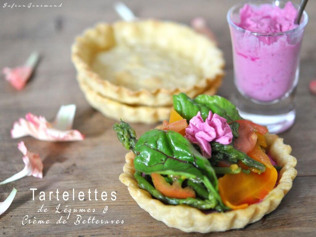 Tartelettes de Légumes & Crème de Betteraves