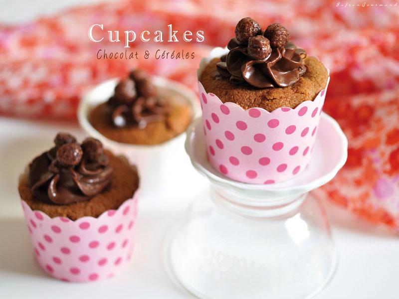 Cupcakes au Chocolat & Céréales