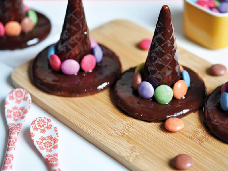 Les chapeaux de sorci re halloween - Recette dessert halloween ...