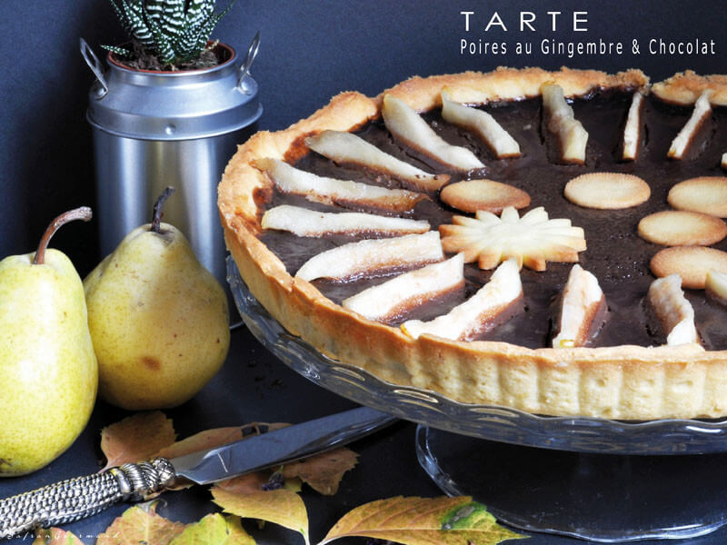 tarte aux poires gingembre chocolat. Black Bedroom Furniture Sets. Home Design Ideas