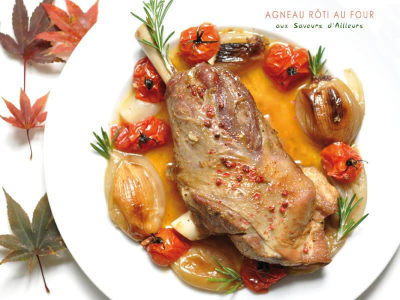 Agneau r ti au four aux saveurs d 39 ailleurs - Roti d agneau au four ...