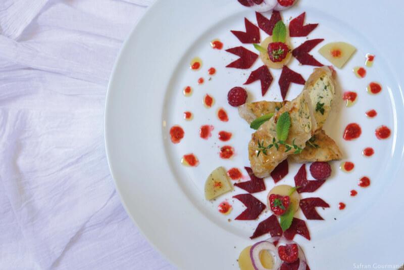 """Nems au Poulet Parfumé & Salade """"Zellige"""""""