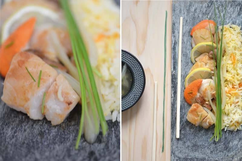 Paella d'inspiration Japonaise